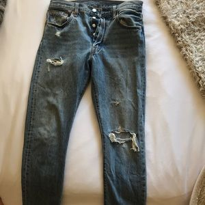 Levi's 501 skinny high waisted worn once